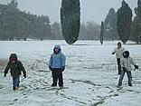 Nieva en Buenos Aires