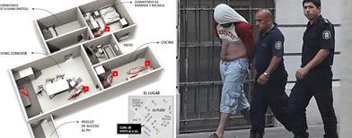 La escena del crimen de La Plata/ La Nación