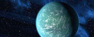 Ilustración que representa al recién descubierto planeta Kepler-22b. / Foto: AP/NASA