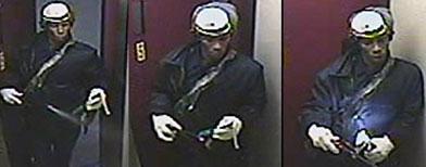 Jerome Isaac dentro del ascensor, tomado por las cámaras de seguridad / Foto: AP