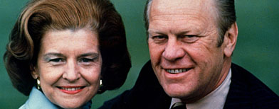 President Gerald Ford and his wife Betty Ford are shown in July 1975. (AP Photo / file )