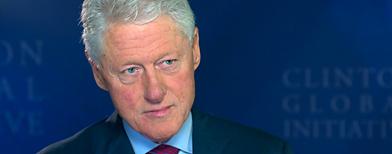 Former President Bill Clinton at the Clinton Global Initiative America (Yahoo! Studios)