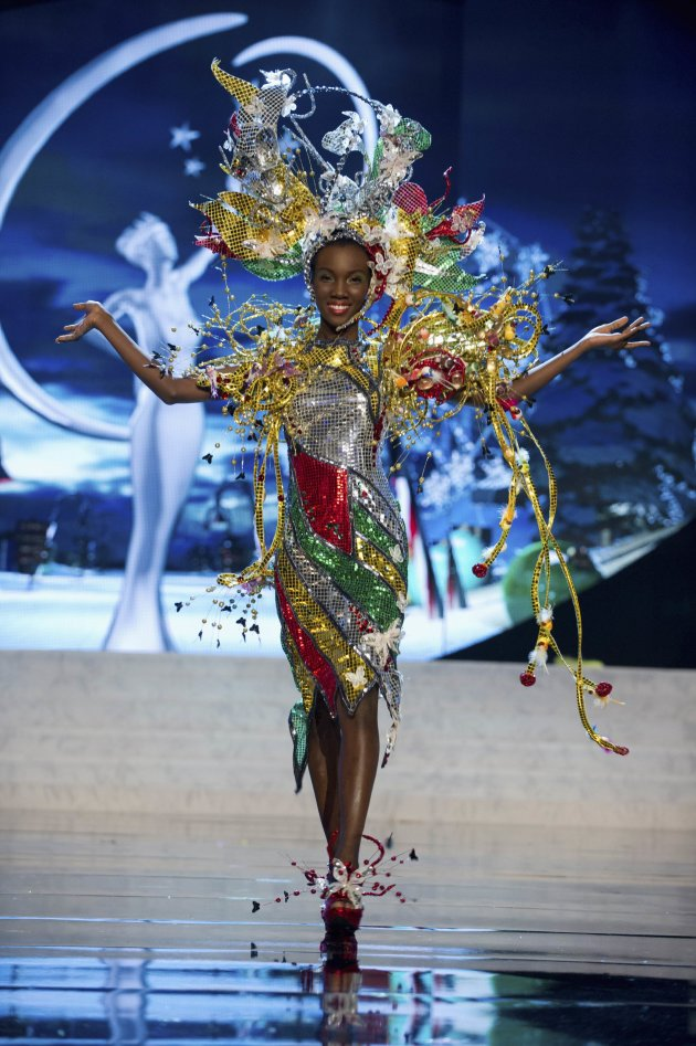 Miss Guyana Ruqayyah Boyer performs onstage at the 2012 Miss Universe National Costume Show at PH Live in Las Vegas
