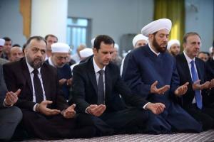 Syria's President Bashar al-Assad attends Eid al-Adha…
