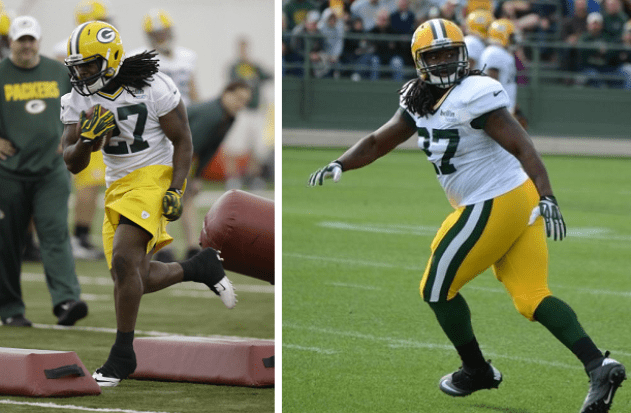 Image result for eddie lacy before and after