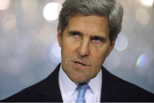 Secretary of State John Kerry looking really, really, really pissed