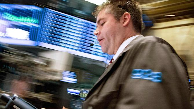 Stocks jump; Dow up 200 pts on Caterpillar outlook