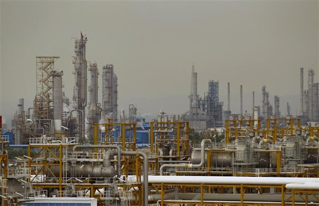The Phase 4 and Phase 5 gas refineries are seen in Assalouyeh