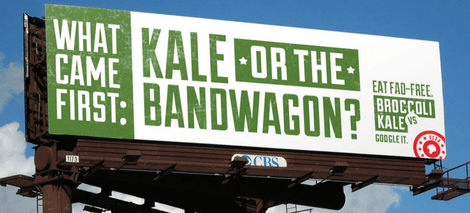 What came first: kale or the bandwagon?