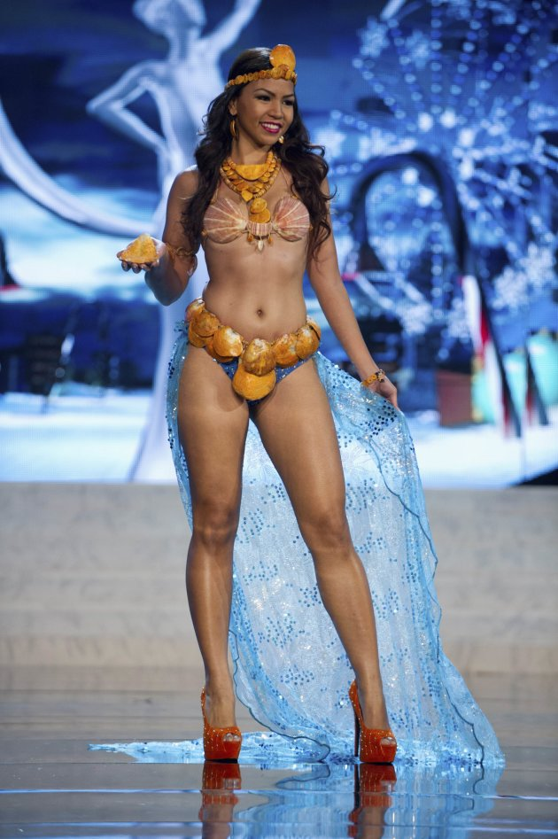 Miss Guam Alyssa Cruz Aguero performs onstage at the 2012 Miss Universe National Costume Show at PH Live in Las Vegas