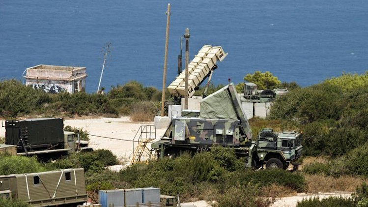 A Patriot surface-to-air missile battery is positioned in the coastal city of Haifa north of Israel on August 29, 2013