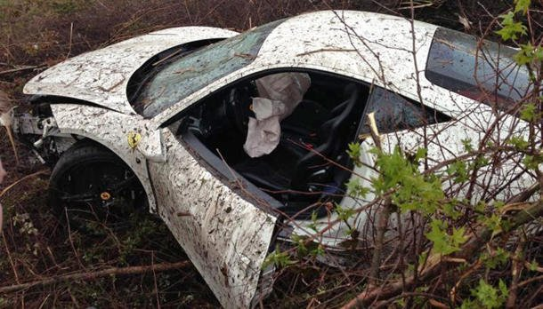 Twin-turbo, 700-hp Ferrari 458 crashed into swamp after top-speed run