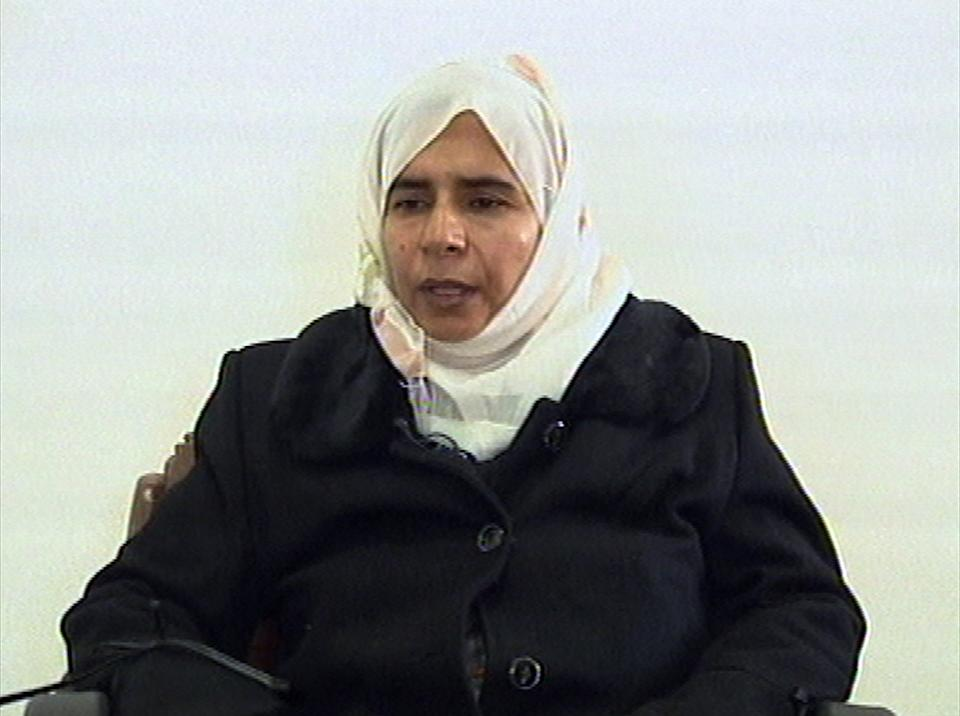 In this  Nov. 13, 2005 file photo, Iraqi Sajida al-Rishawi, confesses on Jordanian state run TV about her failed bid to set off an explosives belt...