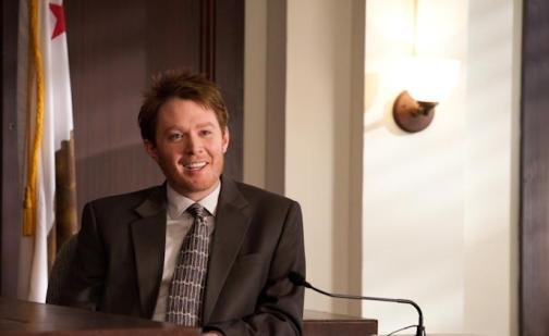 "In this publicity image released by Lifetime Television, former ""American Idol"" runner-up Clay Aiken is shown during a guest-starring appearance on ""Drop Dead Diva.""  Aiken will be seen in an upcoming episode of the series, airing Sunday, July 24, 2011 at 9:00 p.m. EDT on Lifetime.  (AP Photo/Lifetime Television, Bob Mahoney)"