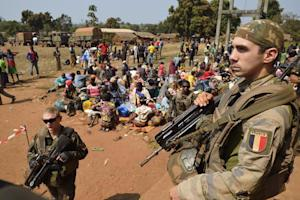 French soldiers taking part in 'Operation Sangaris' …
