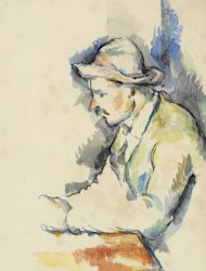 FILE - This undated file picture provided by Christie's shows a rare watercolor study by French artist Paul Cezanne believed lost and last seen in 1953. The rare watercolor study by Paul Cezanne believed lost for nearly 60 years fetched over $19 million at a New York City auction. (AP Photo/Christie's, File)