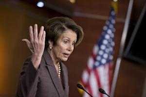House Minority Leader Nancy Pelosi of Calif. speaks …