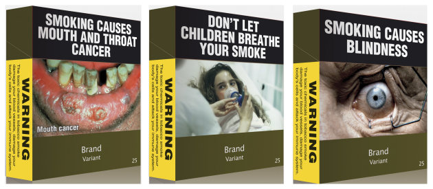 Australian Plain Cigarette Packs