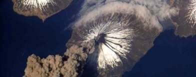 Gunung api Cleveland (Foto: Getty Images/NASA)