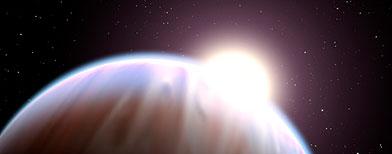 Recreación de un artista del exoplaneta HD 189733b. (NASA/ESA/G. Bacon/STScI)