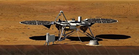 Artist rendition of the proposed InSight Lander. (Space.com/Photo by NASA/JPL)