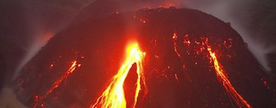 Gunung Kelud. Foto: Tribunnews