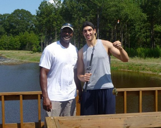 Enes Kanter and Karl Malone will be ordering out for dinner (via Instagram).