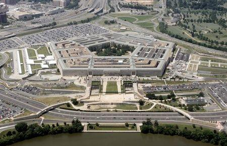 An aerial view of the Pentagon building in Washington, June 15, 2005, with the Potomac river in the ..