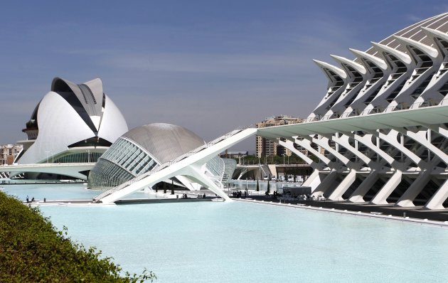 A view of the City of Arts and Sciences, by architect Santiago Calatrava, is pictured in Valencia