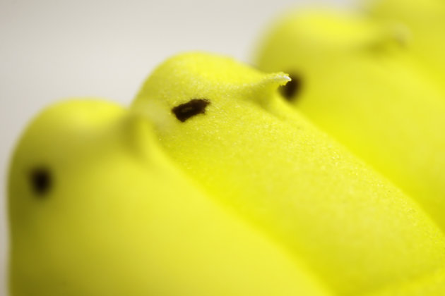 <p>               In this Wednesday, Feb. 13, 2013 photo, displayed are Peeps at the Just Born factory in Bethlehem, Pa. With the storied candy brand celebrating its 60th anniversary this year, a quirky new TV ad campaign talks about all the things people do with their Peeps. (AP Photo/Matt Rourke)