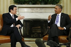 President Barack Obama meets with Vietnam's President …