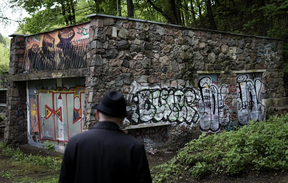 In this photo taken on Wednesday, May  13, 2015, Shmuel Levin, the Chairperson of the Jewish religious Community of Vilnius and Lithuania, looks at...