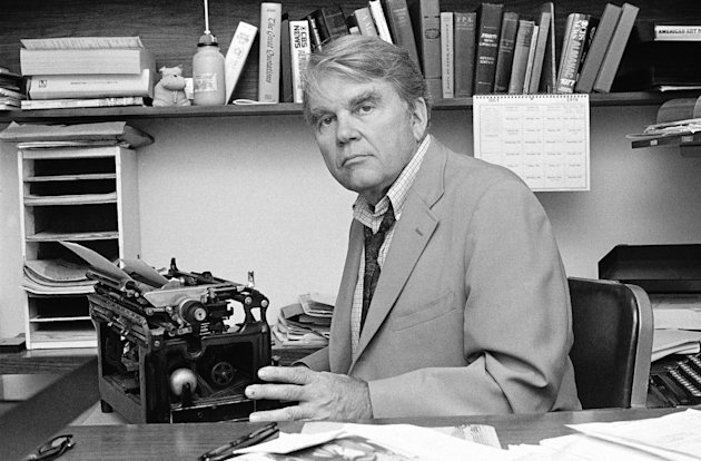 "FILE - In this August 1978 file photo, CBS News producer and correspondent Andrew Rooney poses for photos in his New York office. CBS says former ""60 Minutes"" commentator Andy Rooney died at age 92. ("