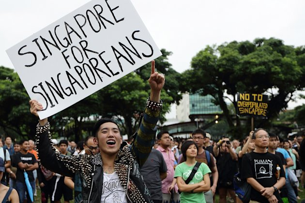 Singaporeans Protest Population …