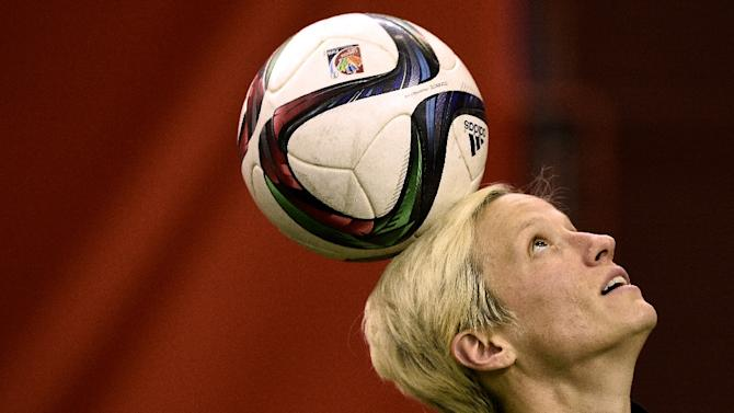 Megan Rapinoe, pictured on June 25, 2015, suffered a torn anterior cruciate ligament in a non-contact incident in Honolulu