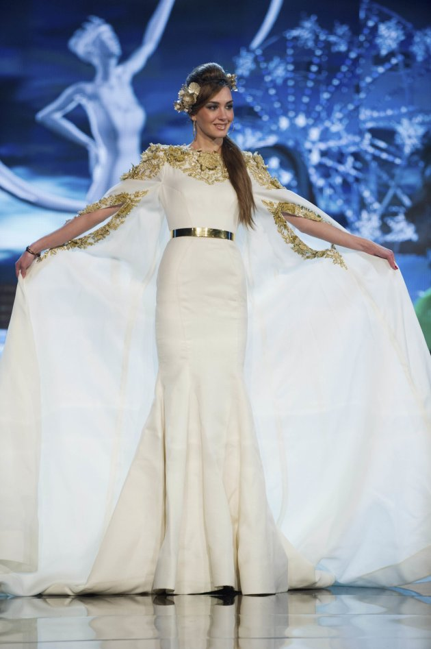 Miss Lebanon Rina Chibany performs onstage at the 2012 Miss Universe National Costume Show at PH Live in Las Vegas
