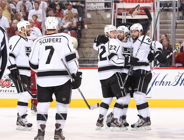 Drew Doughty #8 Of The Los Angeles Kings (2nd From R) Celebrates Getty Images