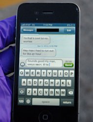 <p> This April 3, 2013 photo provided by the Greeley Police shows the text message University of Northern Colorado student Alexander Heit was typing to an unidentified person when police say he lost control of his car and ran off the road. He was taken to North Colorado Medical Center where he later died. Now his parents are hoping to convince others not to text and drive. The name of the message's recipient was redacted by the Greeley Police to protect the recipient's identity. (AP Photo/Greeley Police)