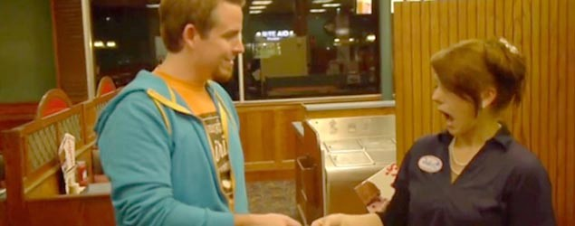 Julie Bombria was the latest to receive a tip from Seth Collins, who is trying to fulfill his late brother's wish. (Screenshot/ABC News)