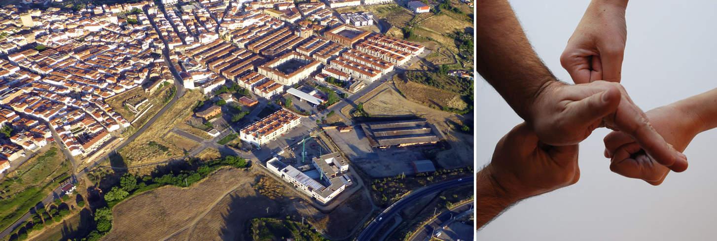 IES Coria aerial view LANDINEZ+REY arquitectos [eL2Gaa]