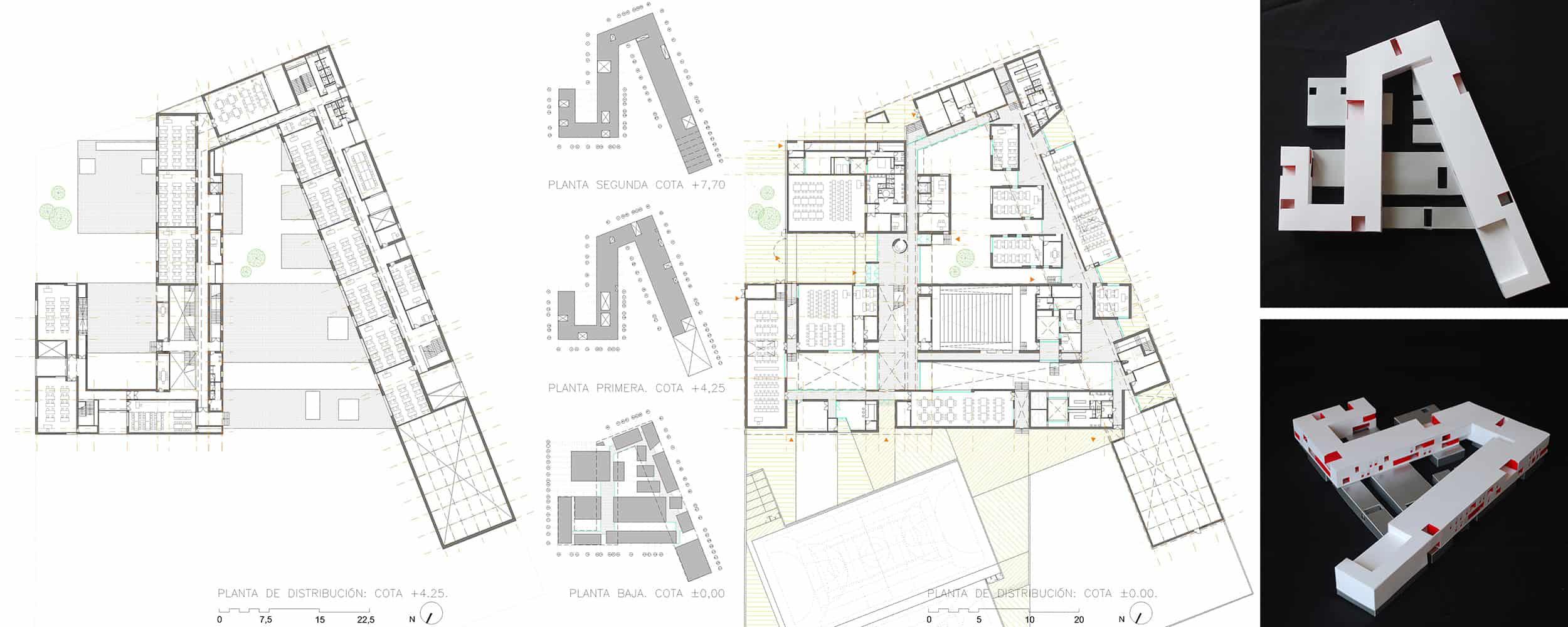 IES Coria - plantas - arquitectura escolar - LANDÍNEZ+REY | eL2Gaa