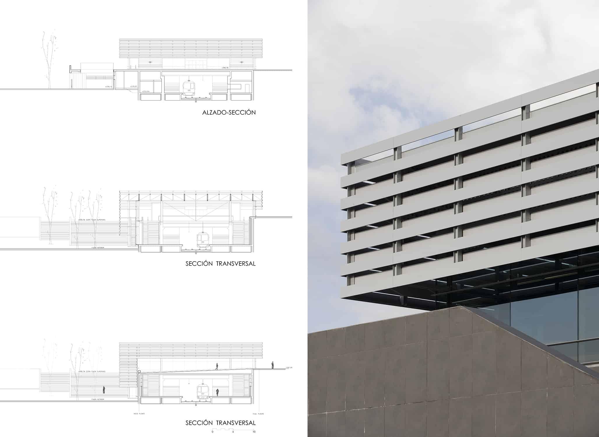 Secciones+Alzados Estación METRO de MADRID_LGV+LANDINEZ+REY | equipo L2G arquitectos, slp [ eL2Gaa ] - arquitectura del transporte