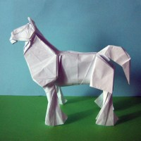 Origami Clydesdale Horse