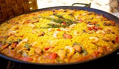 Paella with Chicken, Leeks and Tarragon