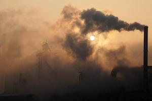 File picture taken on January 17, 2013 shows smoke…