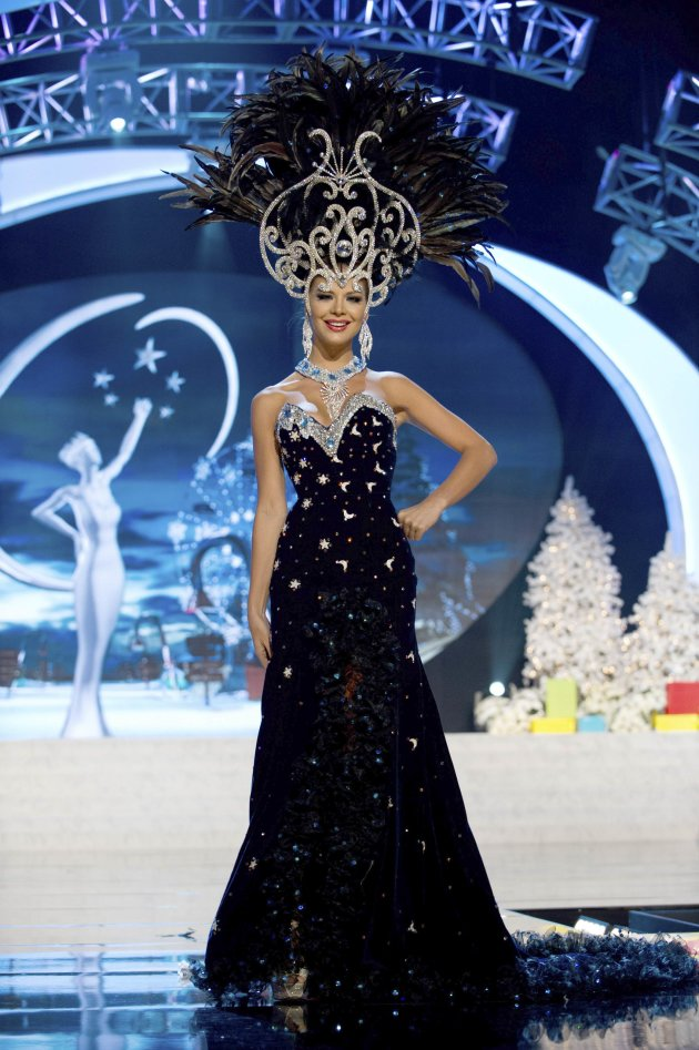 Miss Paraguay Eckert performs onstage at the 2012 Miss Universe National Costume Show at PH Live in Las Vegas