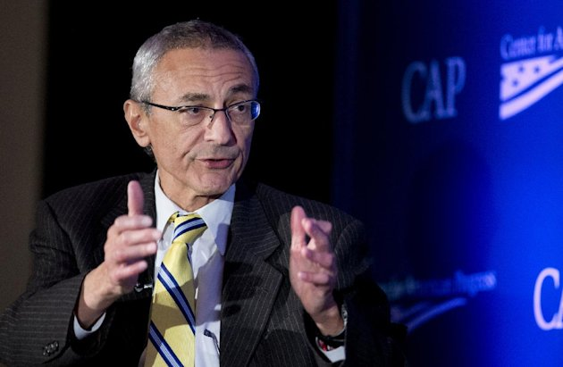 FILE - In this Nov. 19, 2014 file photo, Counselor to the President John Podesta speaks in Washington, Wednesday, Nov. 19, 2014. In the year that will...