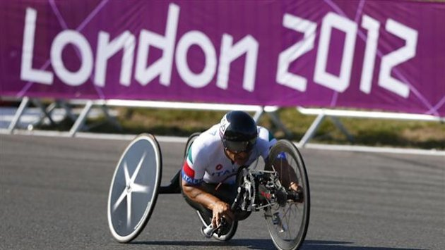 Former Formula One and Cart racing car driver Alessandro Zanardi of Italy, cycles during the Men's Individual H4 Time Trial during the London 2012 Paralympic Games at Brands Hatch (Reuters)