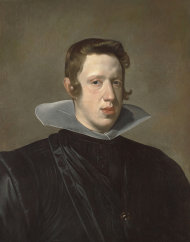 This undated handout photo courtesy of the Meadows Museum shows Diego Rodriguez Velazquez's portrait of King Philip IV. Research has revealed that this portrait is likely the first one Velazquez painted of King Philip IV. The exhibit, opening Sunday, Sept. 16, 2012, at the Meadows, is part of a partnership between the Meadows and Madrid's famed Prado. (AP Photo/Meadows Museum)