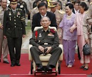 Thailand's King Bhumibol Adulyadej (centre, in Bangkok in May) has been treated for a minor brain bleed in the hospital where he has lived since 2009, the palace said Friday. The king's heartbeat and blood pressure had returned to normal following the incident, but doctors advised him to suspend public activities for the time being, the royal Household Bureau said in statement